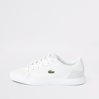 Lacoste River Island Womens White leather logo trainer