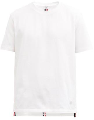 Thom Browne Back-stripe Cotton-pique T-shirt - White