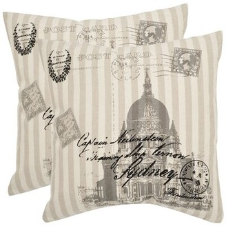 Safavieh Lucas Ramie Cotton Throw Pillow Size: 18""