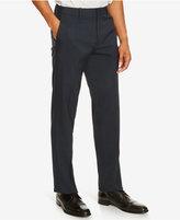 Kenneth Cole Reaction Men's Flat-Front Neat Indigo Dress Pants