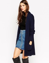Asos Cardigan In Rib With Side Splits and Pockets