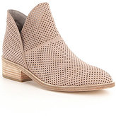 Eileen Fisher Perforated Leather Leaf 2 Slip-On Booties