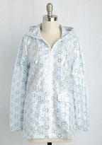 Whispering Smith Limited Flower Showers Rain Coat in Blue