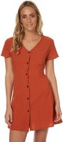 Reverse Womens Marina Button Dress Orange
