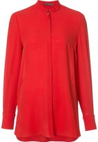 Alexander McQueen Mandarin collar blouse - women - Silk - 40