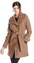 Calvin Klein Women's Single-Breasted Wool-Blend Coat