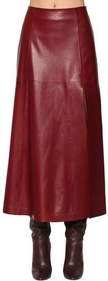 Salvatore Ferragamo Leather Midi Skirt