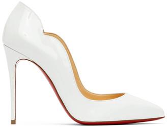 Christian Louboutin White Patent Hot Chick 100 Heels