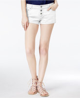Vanilla Star Juniors' Triple-Button Denim Shorts