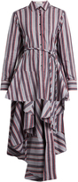 Palmer Harding PALMER/HARDING Extended waterfall-hem striped cotton-poplin shirt