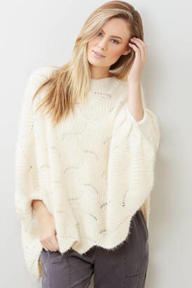 K. Bell Evelyn Sleeve Poncho Ivory 1 Size