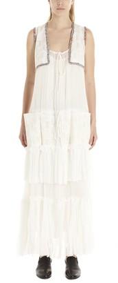 Lanvin Sleeveless Ruffled Maxi Dress