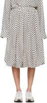 Sara Lanzi Off-white and Black Polka Dot Balloon Skirt