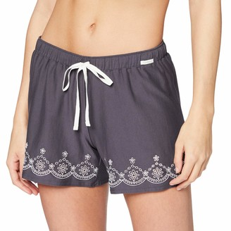 Skiny Women's Damen Pyjama Hose Kurz Earth Sleep Bottoms