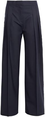 Victoria Victoria Beckham Satin-trimmed Twill Wide-leg Pants