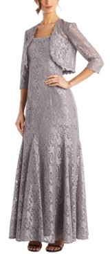 R & M Richards Petite Lace Gown & Bolero