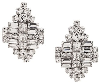 Christian Dior x Susan Caplan 1990's archive diamond-shape earrings