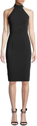 Jay Godfrey Meghan Sleeveless Halter-Neck Open-Back Sheath Dress