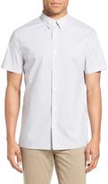 Vince Short Sleeve Geo Print Sport Shirt