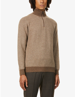 Ralph Lauren Purple Label Half-zip cashmere jumper