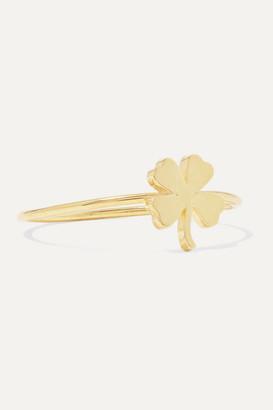 Jennifer Meyer Mini Clover 18-karat Gold Ring - 3
