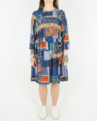 Libertine-Libertine Curl Dress Royal Blue Patch - XS