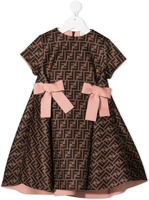 Fendi Kids FF print dress