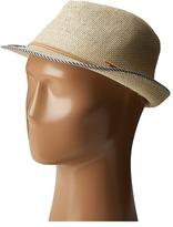 Scala Matte Toyo Fedora with Bind Fedora Hats