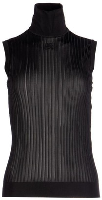 Givenchy Pleated Sleeveless Turtleneck Top