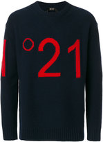 No.21 logo intarsia jumper - men - Polyamide/Viscose/Virgin Wool - 46