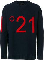 No.21 logo intarsia jumper
