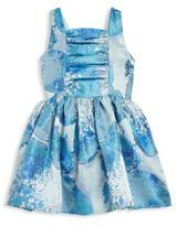 Halabaloo Toddler's & Little Girl's Blue Floral V-Back Dress