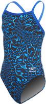 Speedo Endurance+ Girls' Amplified Pulse Flyback One Piece Swimsuit 8155668
