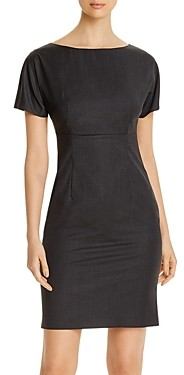 BOSS Diluva Virgin Wool Short-Sleeve Sheath Dress