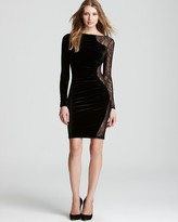 Velvet Dress - Long Sleeve with Lace