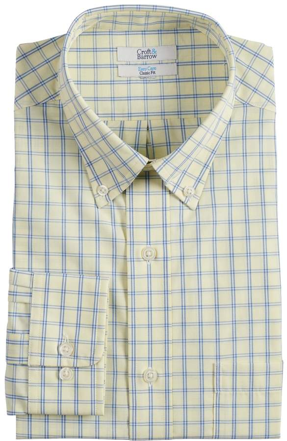 40bbf3628c3 Mens Yellow Gingham Shirt - ShopStyle