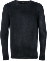 Avant Toi distressed crew-neck jumper
