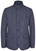 Pal Zileri Dark Blue Quilted Shell Jacket