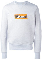 Ami Alexandre Mattiussi embroidered Bisou! sweatshirt - men - Cotton - S