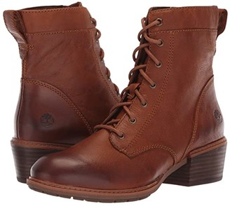 Timberland Sutherlin Bay Mid Lace Boot (Medium Brown Full Grain) Women's Lace-up Boots