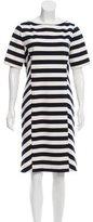 Tory Burch Striped Knee-Length Dress