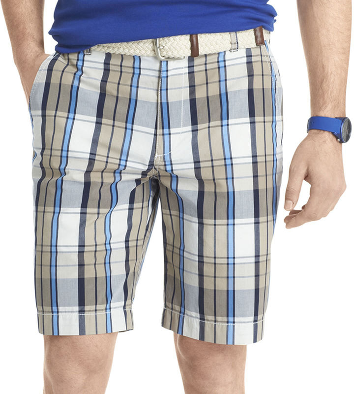 Izod Plaid Poplin Shorts
