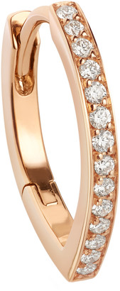 Repossi Antifer Half Pave Diamond Huggie Earring