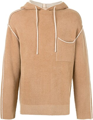 SONGZIO Signature reversible knitted hoodie