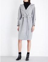 Mo&Co. Hooded wool-blend wrap coat