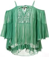 Roberto Cavalli cold shoulder keyhole top - women - Silk - 38