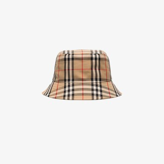Burberry brown Vintage check cotton bucket hat
