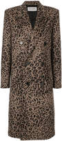 Saint Laurent leopard printed coat