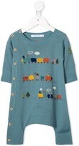 Familiar knitted romper suit