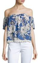 Lovers + Friends Floral-Print Off-The-Shoulder Top